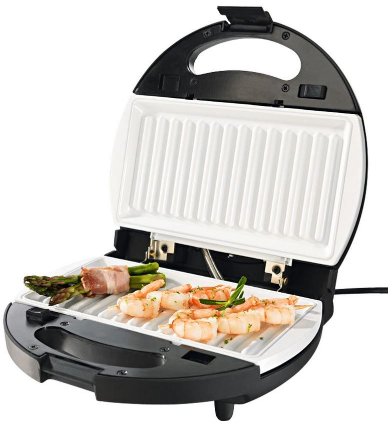 Kontakt Grill gourmetmaxx Vario Chef 6in1 Keramik   Waffeleisen, Grill  Sandwich , Donut  und Omelettmaker für 19,99€