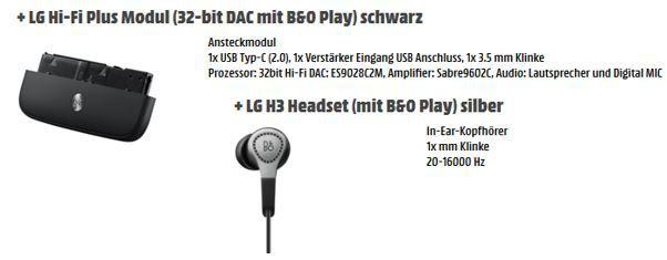 LG Hi Fi Plus LG G5 + mit Smart Surf E Plus + HiFi Modul und LG in Ears für 377€ (statt: 444€)