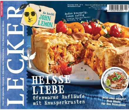 Lecker Neu Lecker Koch Magazin im Jahresabo für effektiv 5€ dank 30€ Prämie