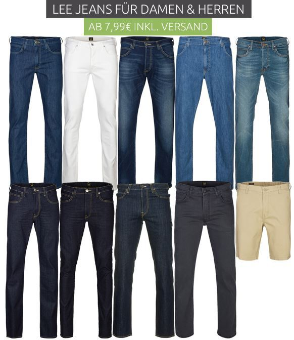 Lee Sale bei Outlet46   z.B. Jeans ab 7,99€ oder Hemden ab 10€