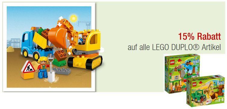 Lego Duplo mit 15% Rabatt   z.B. Wildlife Set Dschungel & Savanne statt 61€ für nur 44€