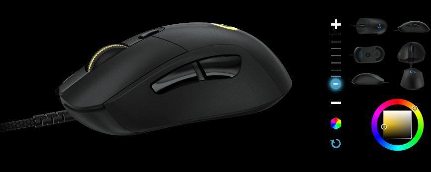 Logitech G403 Prodigy Logitech G403 Prodigy   Gaming Maus (Schnur) für 50,99€