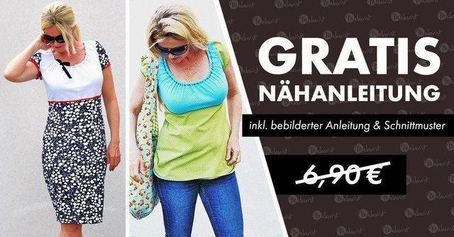 Makerist Kleid Nähanleitung und Schnittmuster für ein Kleid gratis