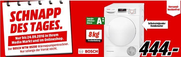 BOSCH WTW 85230 Kondensation Wärmepumpentrockner für nur 444€ (statt 569€)