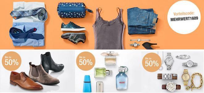 Mehrwert1609 Galeria Kaufhof Mega Sale mit bis zu 50% auf ausgewählte Artikel + 20% Extra Rabatt heute!