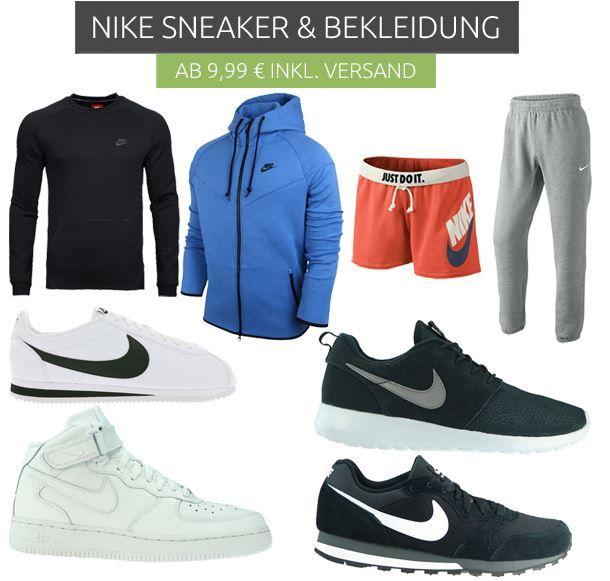 Nike Sneaker und Bekleidung Nike Restposten Sale bei Outlet46   z.B. 3er Packs Sportsocken für nur 5,99€