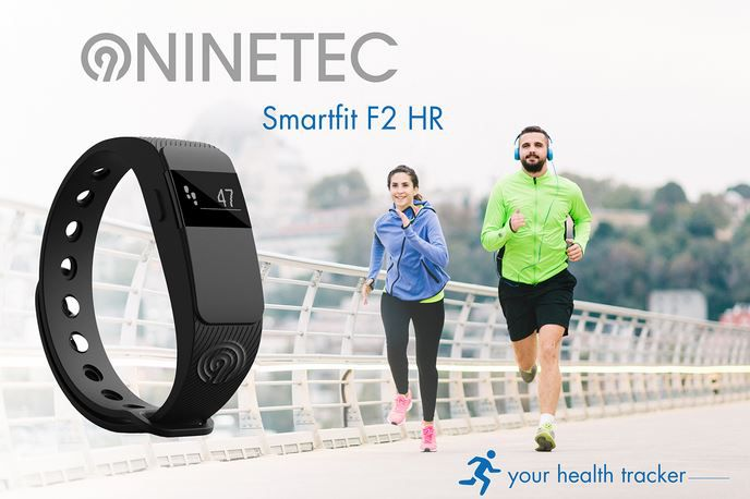 Ninetec HR NINETEC Smartfit F2HR Fitnesstracker für 39,99€ (statt 50€)