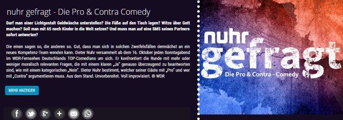 Freikarten für Nuhr gefragt am 07.10. in Köln