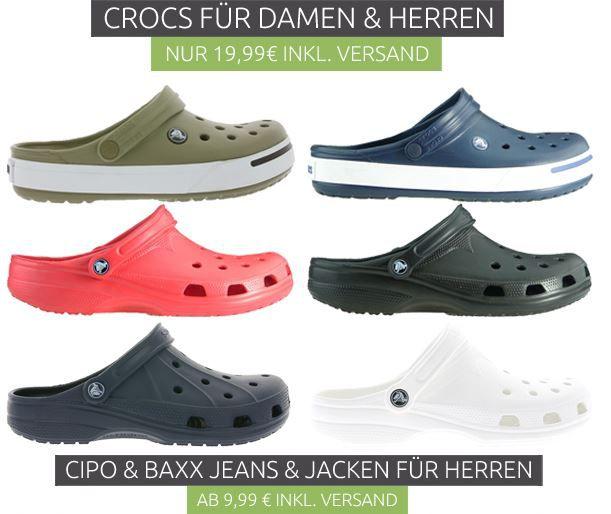 Outlet46 Crocs Angebot Crocs Ausverkauf bei Outlet46 Modelle für Damen und Herren für 19,99€