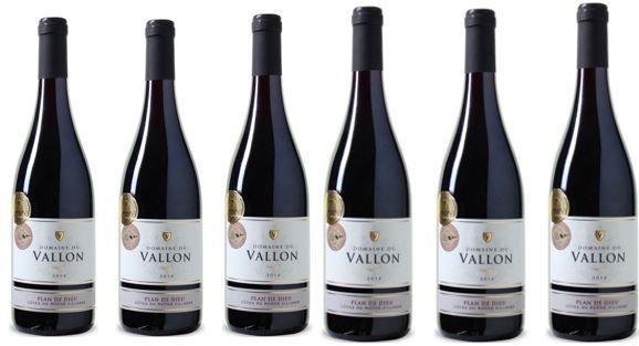 Plan de Dieu   Domaine du Vallon 2014 Rotwein Côtes du Rhône 6er Kiste für 45,87€