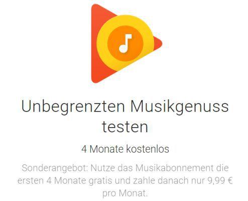 Geht wieder! 4 Monate Google Play Music gratis   nur für Neukunden