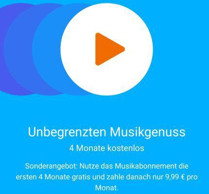 Play Music 4 Monate Google Play Music gratis