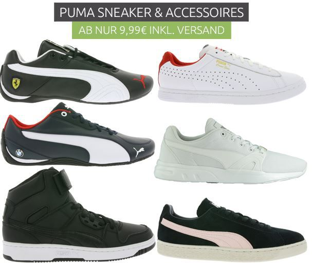 Puma Sneaker Sale1 Puma Outlet46 Sale   mit Sneaker und Accessoires ab 14,99€