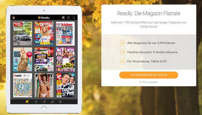 14 Tage Readly kostenlos testen – Zugriff auf knapp 1.800 Magazine