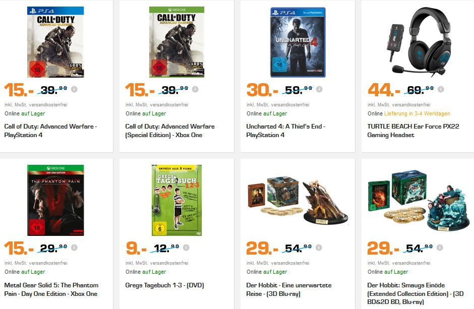 Call of Duty: Advanced Warfare für (PS4, XBox one) für 15€