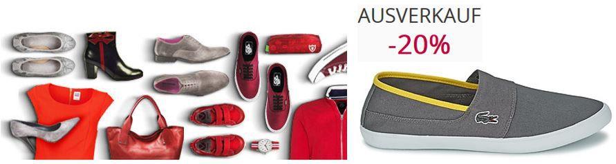 Spartoo mit 20% extra Rabatt im Sale!   günstige Schuhe, Taschen, Accessoires bei Nike & Co.