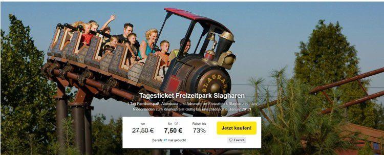 Tagesticket für den Freizeitpark Slagharen für 10,45€ (statt 27,50€)