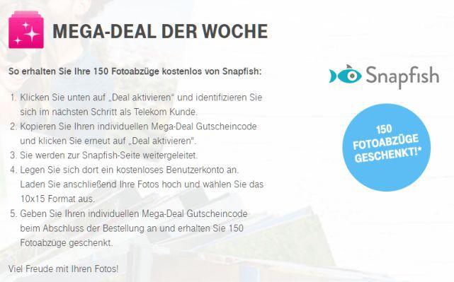 Snapfish Nur für Telekom Kunden: 150 Fotoabzüge bei Snapfish gratis