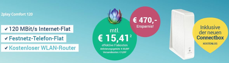 Sparkabel 120 Mbit/s + Festnetz Flat für eff. 16€ mtl. oder mit PS4 für 22€ mtl.