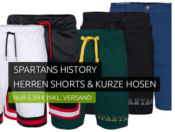 Spartans History   Herren Shorts & Bermudas für je 6,99€