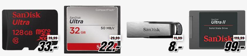 SANDISK Ultra II 480 GB SSD für 99€ bei der MediaMarkt SANDISK Tiefpreisspätschicht