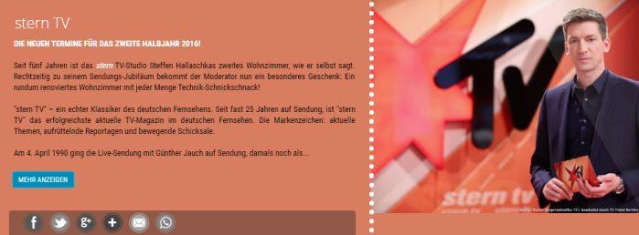 SternTV Banner Freikarten für SternTV am 28.09. und 05.10.