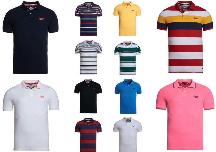 Superdry Herren Polo Shirts Superdry Herren Poloshirts versch. Modelle und Farben für je 22,95€