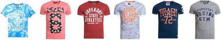 Superdry neu Superdry Herren T Shirts für je 13,95€