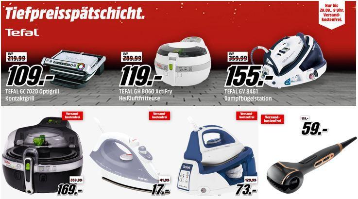 Tefaltiefpreisspätschicht TEFAL GH 8060 ActiFry für 119€   Media Markt Tefal Tiefpreisspätschicht