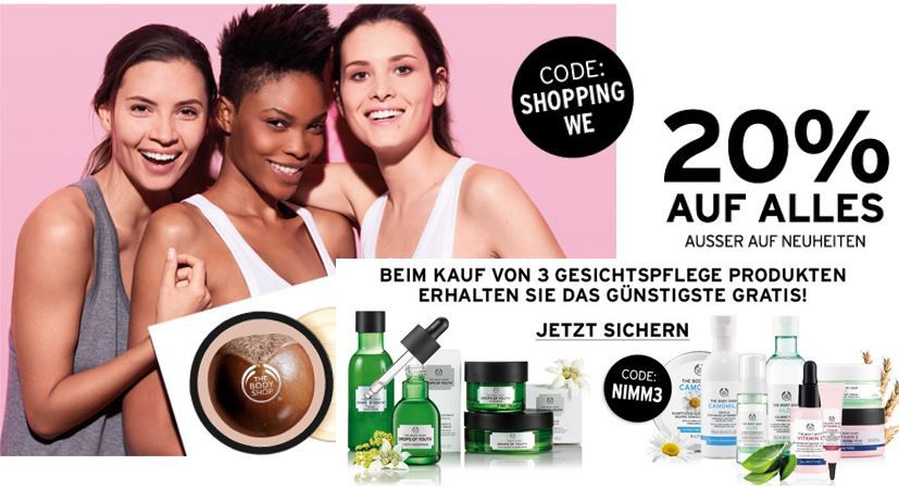 The Body Shop Aktion The Body Shop mit 20% Rabatt auf fast alles   auch im Sale