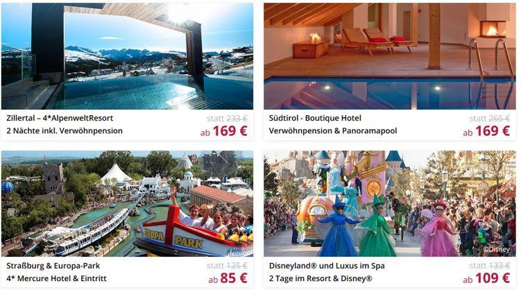 Travador Angebote Travador Reisegutscheine mit 30 oder 60€ sofort Rabatt ab 138€ Reise Buchungen