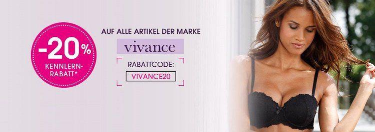 20% auf alle Artikel von Vivance bei Lascana
