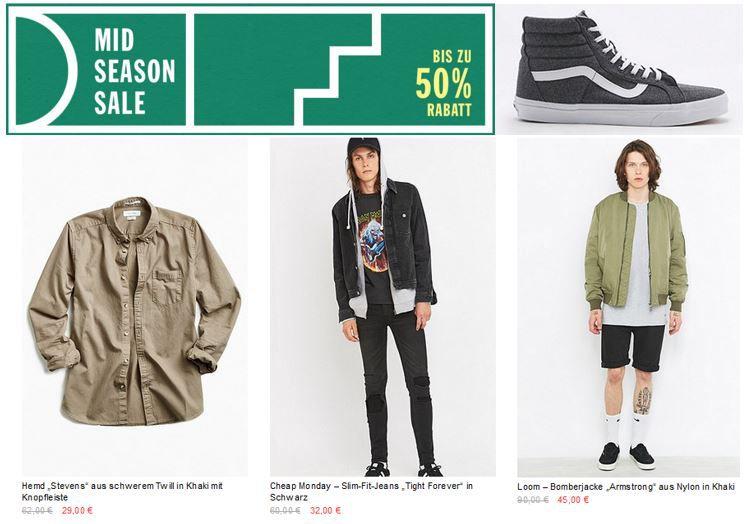 Urban Outfitter Sale Urban Outfitters Mid Season Sale mit Rabatten bis zu 50€