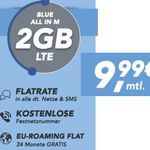 O2 Base SIM Only: AllNet + SMS Flat + Festnetznummer + 2 – 6GB LTE Daten ab 9,99€ mtl.