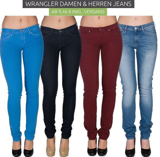 Wrangler Damen und Herren Jeans Sale Wrangler Jeans & Hosen ab 9,46€ bei Outlet46