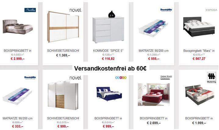 XXXLutz Online Shop heute ohne Versandkosten ab 60€