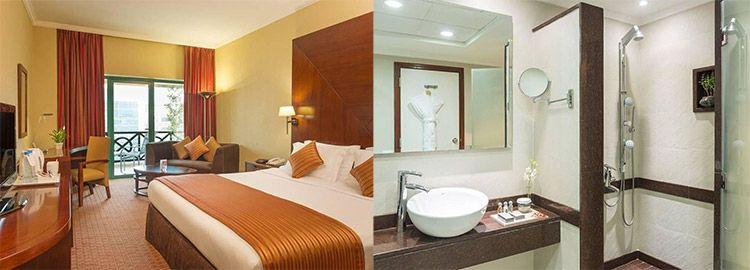coral dubai deira hotel zimmer 6 ÜN in Dubai mit Flug, Transfer & Frühstück ab 542€ p.P.