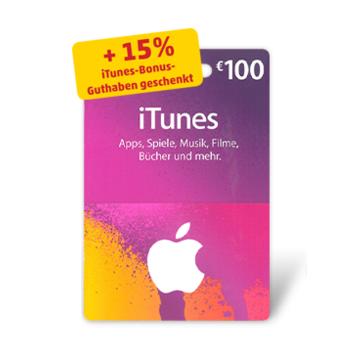 15% zusätzliches iTunes Guthaben bei iTunes Karten bei Penny