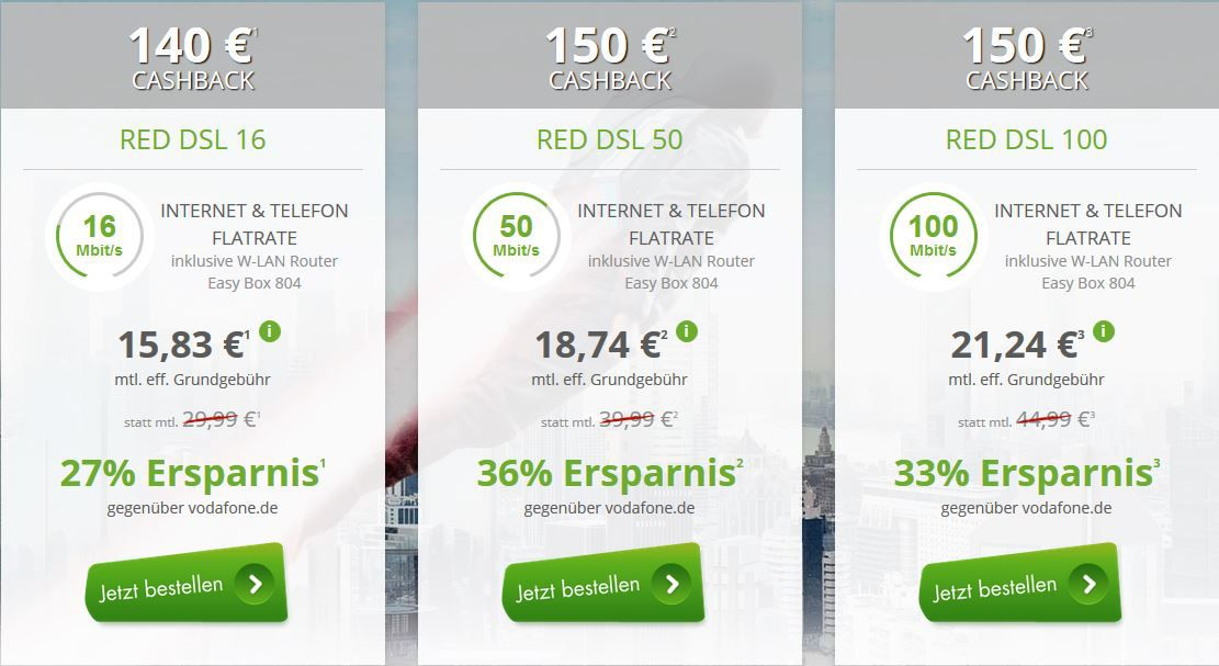dsl Cashback Vodafone DSL mit Festnetzflat schon ab 15,83€ mtl.