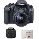 CANON EOS 1300D Kit +  Objektiv EF-S 18-55mm DC III + 32GB Speicherkarte + Tasche für 339€