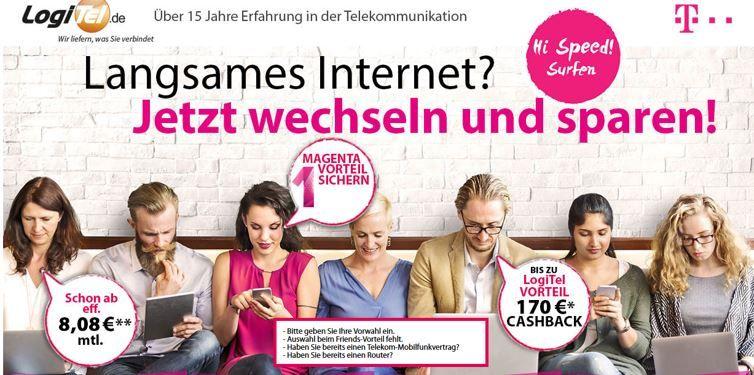 günstige Magenta DSL Verträge Magenta Zuhause: günstige DSL Tarife von 16 bis 100MBits/s inkl. Telefon Flatrat ab 20,81€