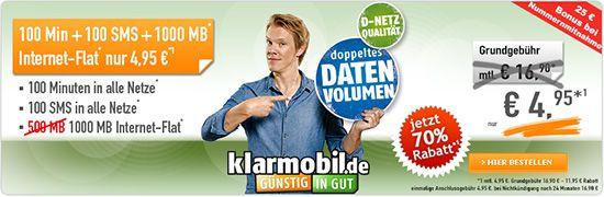 ga3402 1000 495 01 Vodafone Smart Flat VF1000 Vertrag: 100Minuten + 100SMS + 1000MB Daten Flat für nur 5,16€ mtl.