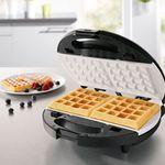 gourmetmaxx Vario Chef 6in1 Keramik – Waffeleisen, Grill- Sandwich-, Donut- und Omelettmaker für 19,99€