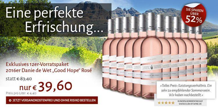 Good Hope Rosé für 40€ (statt 72€)