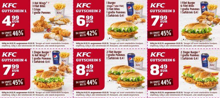 Kentucky Fried Chicken   KFC Rabattgutscheine Januar 2019 zum Ausdrucken
