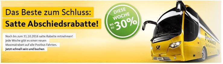 pOSTBUS 30 pROZENT rABATT Postbus: Fernbus Tickets mit bis zu 30% Rabatt