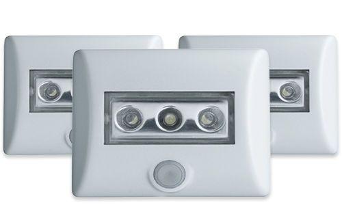3 x Osram LED Nightlux   LED Nachtlicht mit Bewegungsmelder und Helligkeitssensor für 25,99€ (statt 30€)