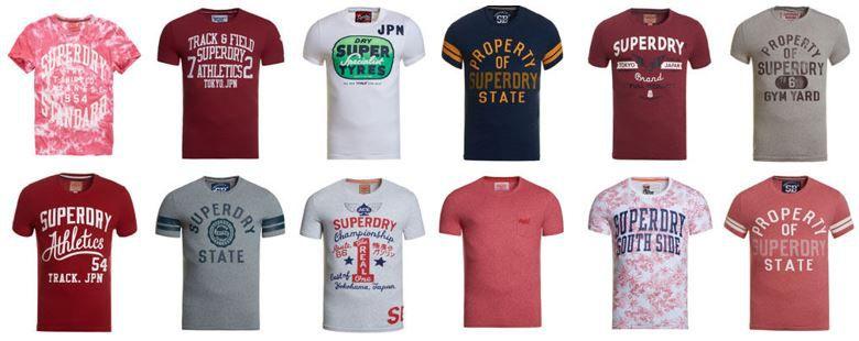 superdry Herren Shirts neu Superdry Herren T Shirts für je 13,95€