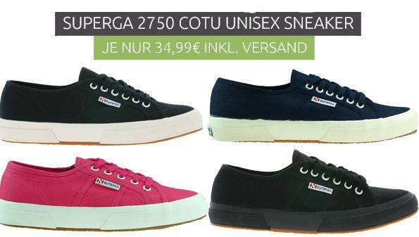 Superga   Damen und Herren Sneaker für 34,99€ (statt 46€)