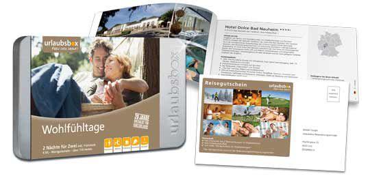 urlaubsbox teaser 2 ÜN & 2 Personen in 116 Hotels + Frühstück + 60€ Gutschein für 144,90€ statt 169€